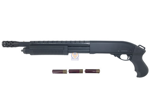 Golden Eagle 8881 BK w/ Heat Shield M870 SF Gas 3/6 Shot Pump Action Shotgun(BK)