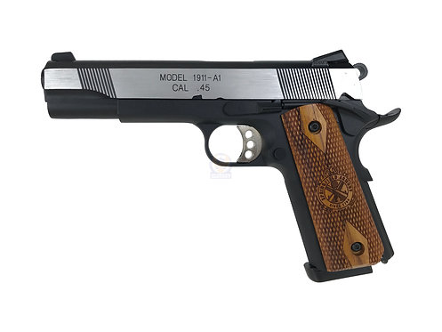 Army R27Y Springfield M1911A1 GBB Pistol With Kimpoi Wood Grip (2 tone)
