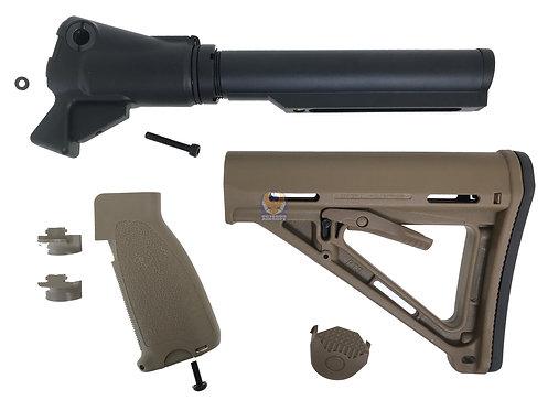 Golden Eagle Gas Charging M4 Stock Adapter for M870 Gas Shotgun Series (MOE DE)