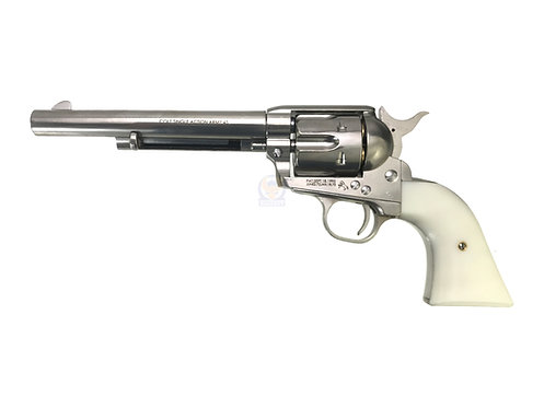 FCW x King Arms SAA .45 Peacemaker Airsoft Gas Revolver M 6 inches - Silver