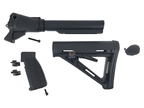 Golden Eagle Gas Charging M4 Stock Adapter for M870 Gas Shotgun Series (MOE BK)