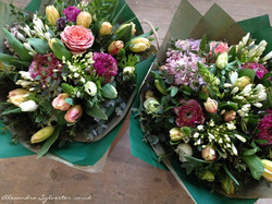 Gift bouquets delivered with anemones, lilac and roses