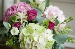 Hydrangea and rose