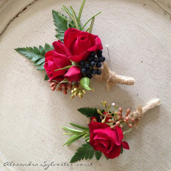 Red rose buttonhole