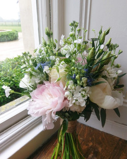 Peony and love in the mist