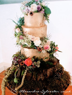 Midsummer night's dream cake flowers
