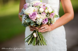 Bridal bouquet - lilac and white