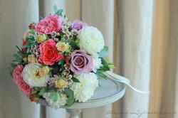Bridal bouquet with dahlias