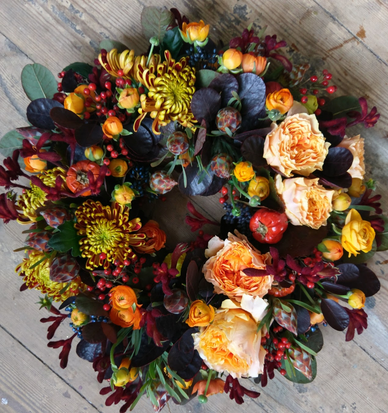 Autumn wreath tribute