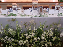 Top table floral runner