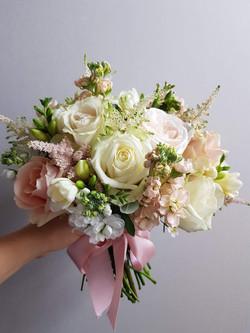 Peach astilbe bouquet