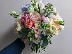 Mixed pastel colours bouquet