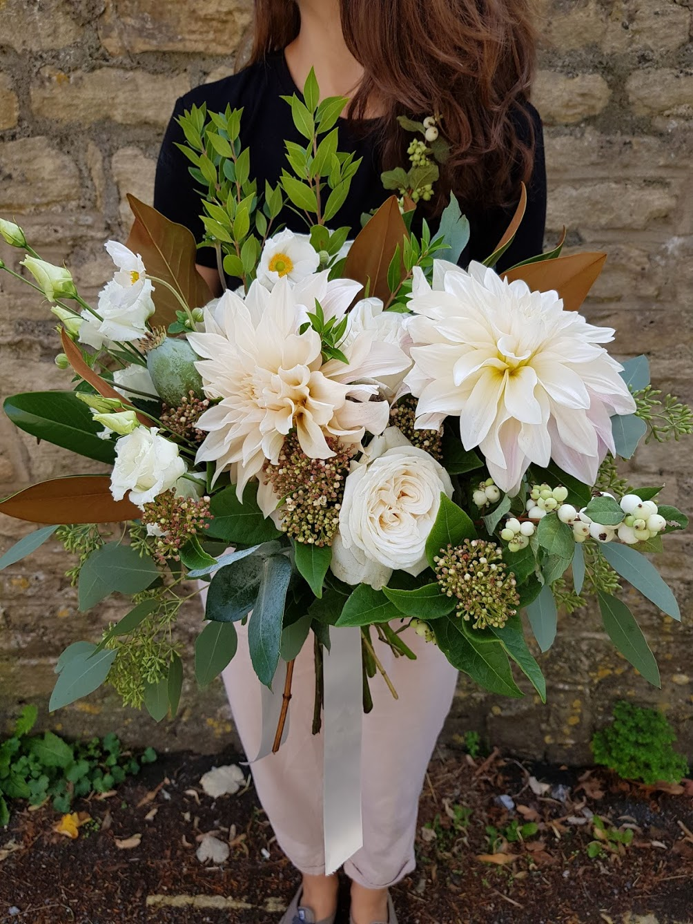 Big dahlia bouquet