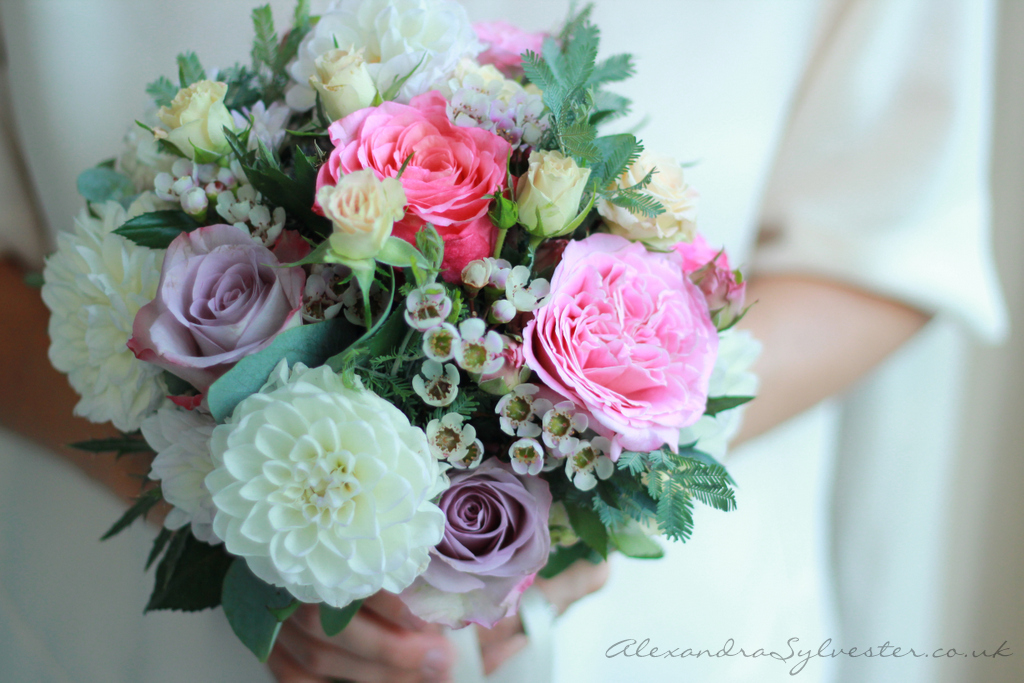 Pink and white memory lane bouquet