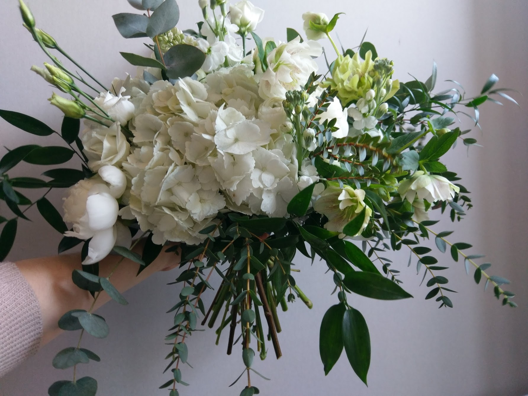 Green white bouquet