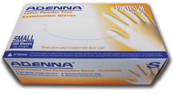 Adenna Platinum Latex Powder-Free (100/Box)