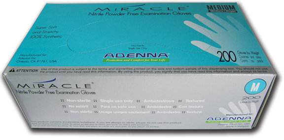Miracle Nitrile Powder-Free Glove (200/Box)