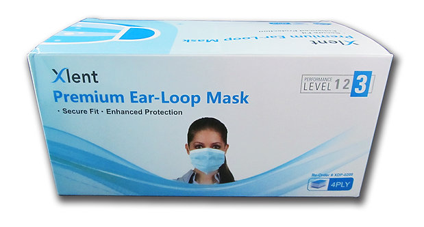 Xlent Level 3 Earloop Facemask