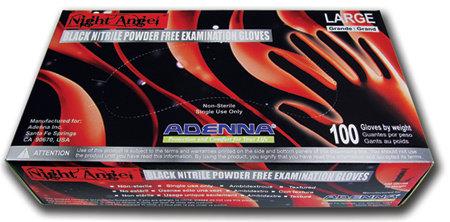 Night Angel Black Nitrile Powder-Free (100/Box)