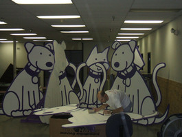 SPCA display characters