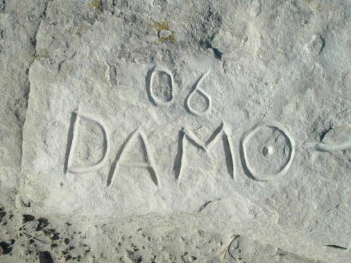 Carved at Glen Rock Wy.