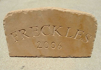 FRECKLES 2006 - Pet head stone/marker
