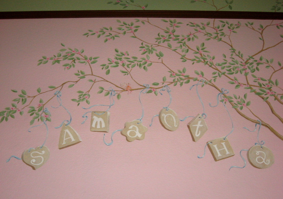 detail of tree letters