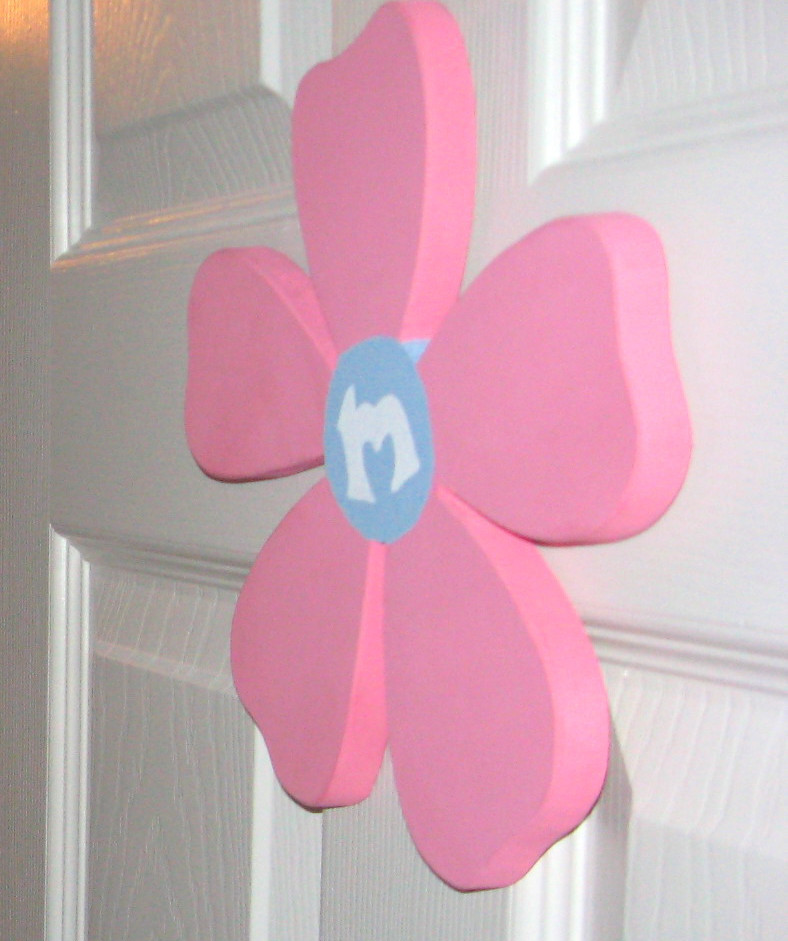 flower cut-out for the door