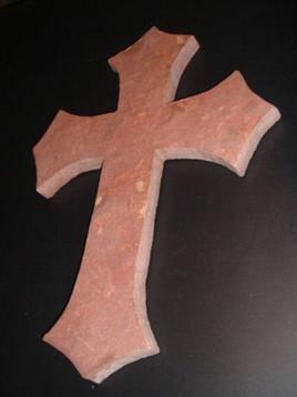 dark antique rose cross