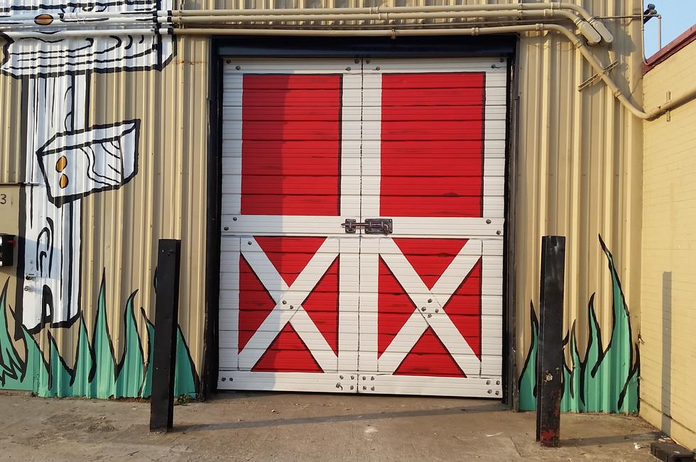 "overhead ""Barn"" door"