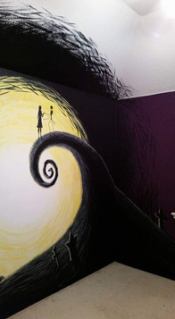 mural black flows ///