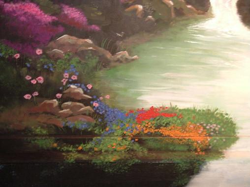 Detail of flowing flowers...