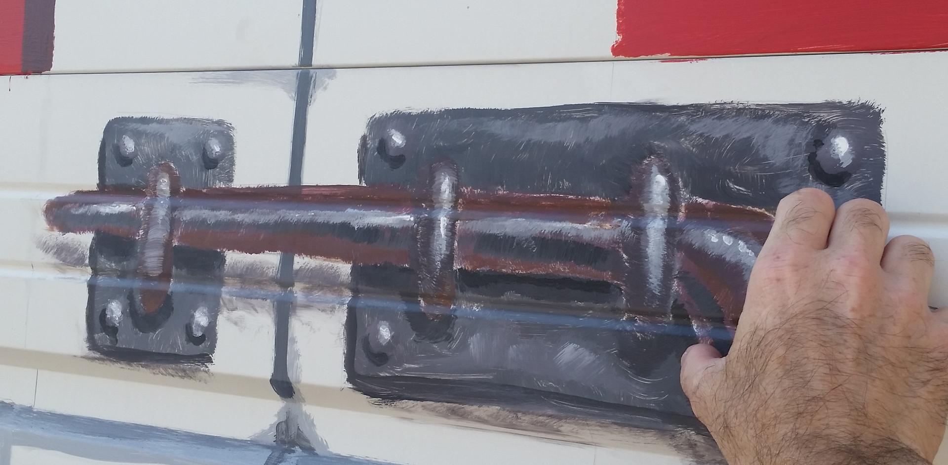 faux slide latch