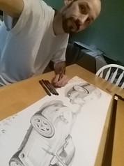Drawing cars ...