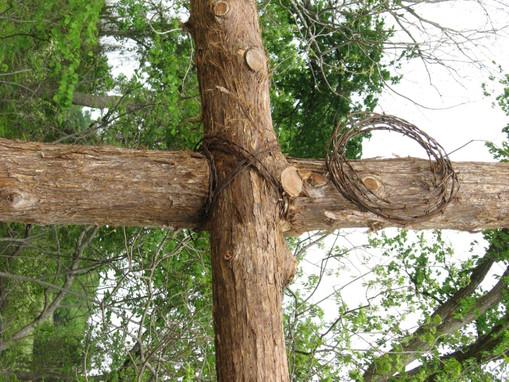 Prayer garden cross