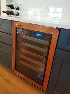 Wine fridge - Mesquite trimmed