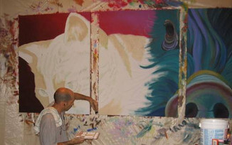 painting SPAC canvas