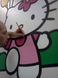 me painting hello kitty