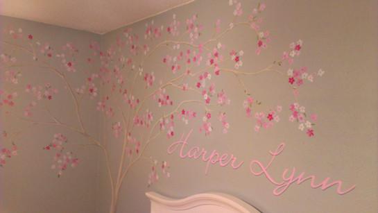 Baby Harper Lynn's nursery