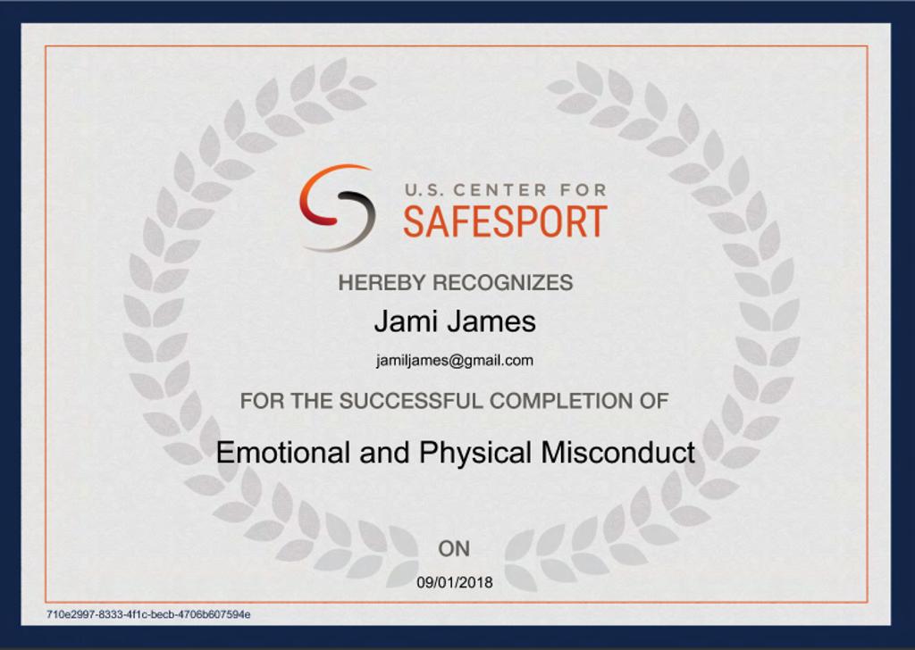 SafeSport Cert 2