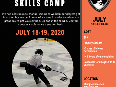 Last Chance To Register for This weekend skiLlS camp.