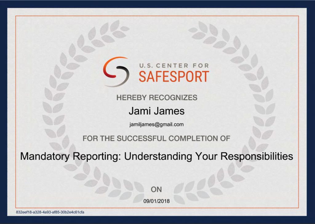 SafeSport Cert 3