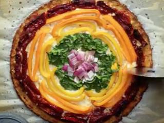 Receita - Pizza Low-carb de Couve-flor
