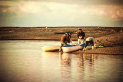 Fishing in Tukituki River Mouth