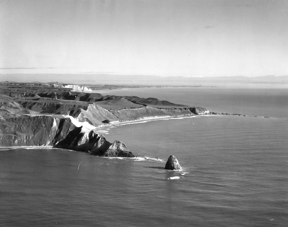 Aerial view of Cape Kidnappers Peninsula