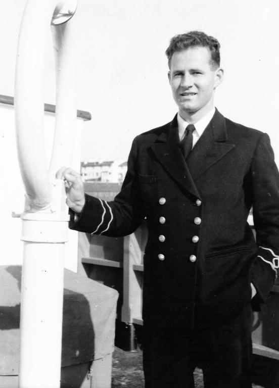 Fred Bradshaw as cargo ship radio officer