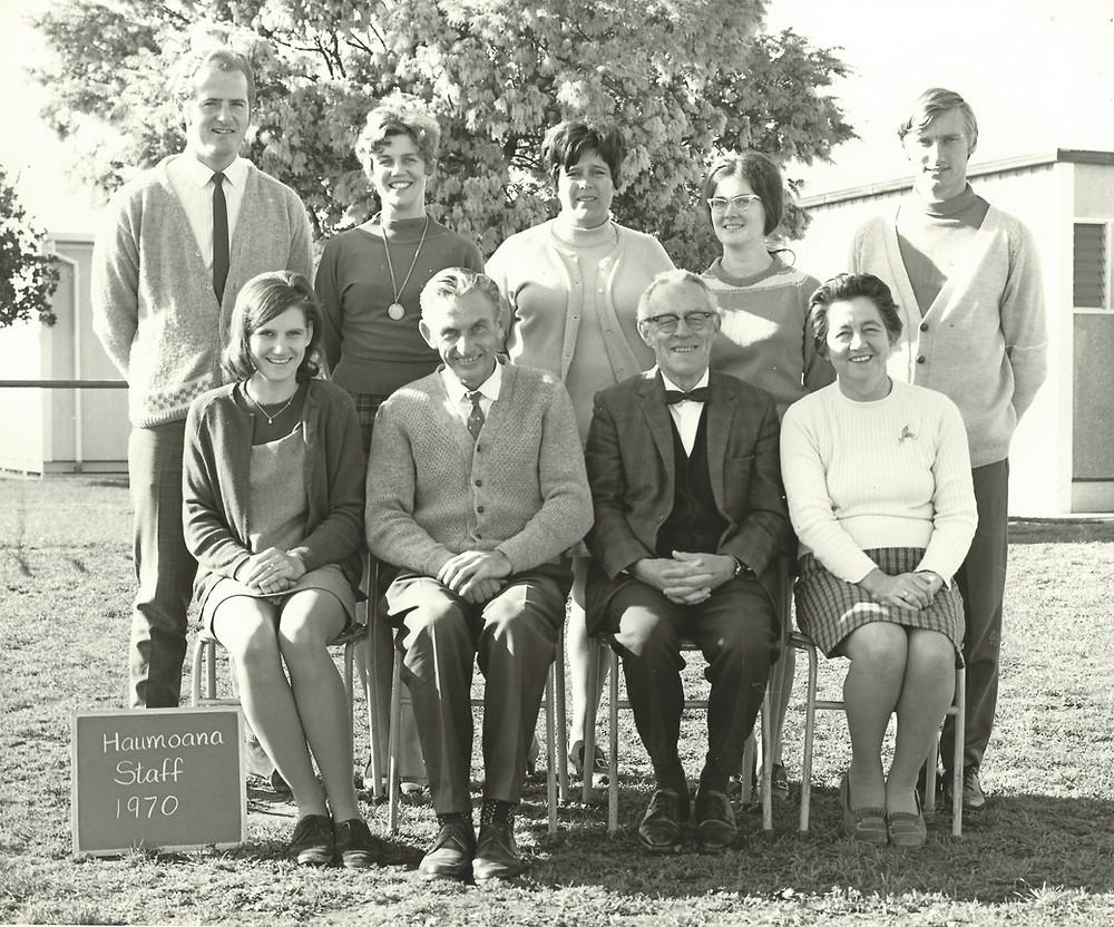 Haumoana Teachers Photo, 1970