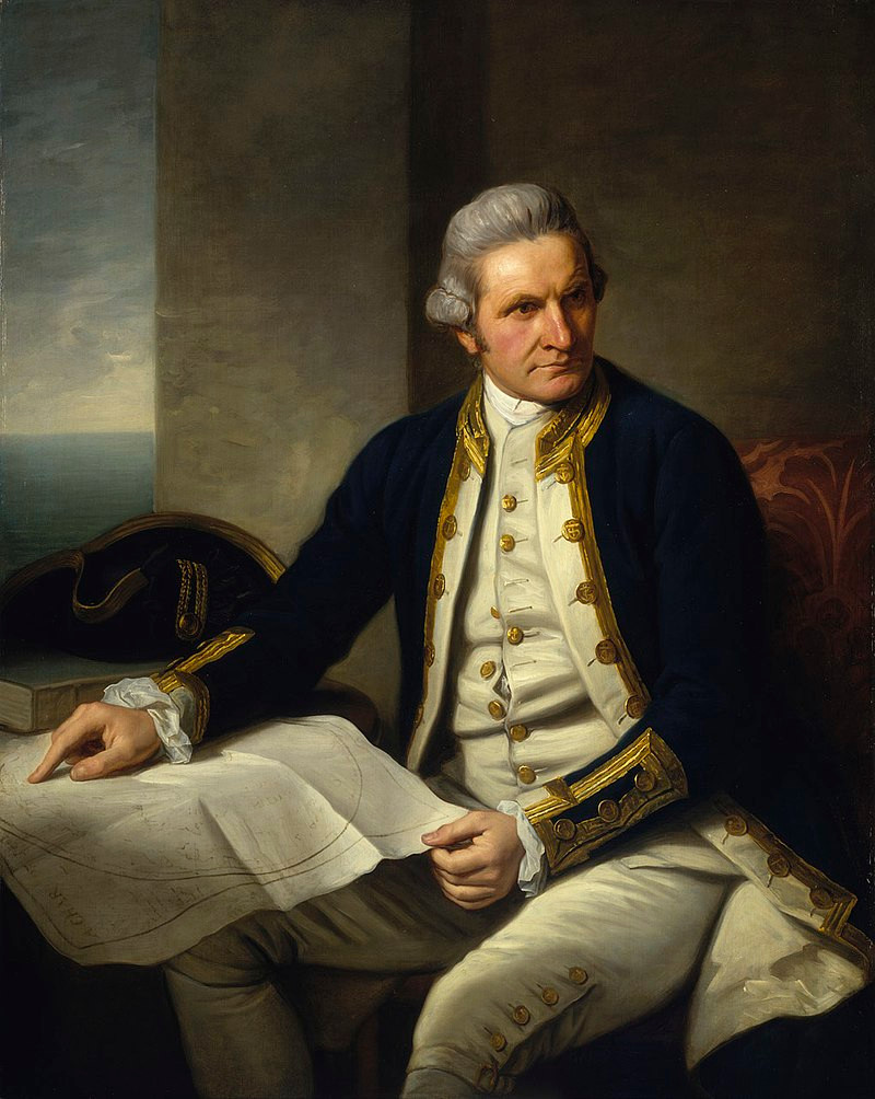 James Cook portrait Nathaniel Dance-Holland - from the National Maritime Museum, United Kingdom