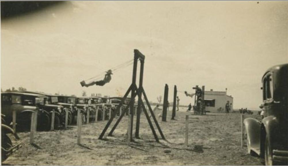 Swings at Grange Beach (Haumoana)