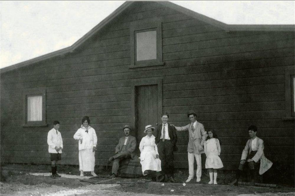 The Vidal Family outside their Te Awanga property